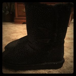 Bearpaw furry boots